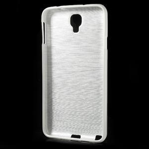 Gelové kartáčované pouzdro na Samsung Galaxy Note 3 Neo - bílé - 3