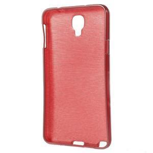 Gelové kartáčované pouzdro na Samsung Galaxy Note 3 Neo - červené - 3
