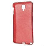 Gelové kartáčované pouzdro na Samsung Galaxy Note 3 Neo - červené - 3/3