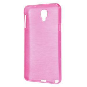 Gelové kartáčované pouzdro na Samsung Galaxy Note 3 Neo - růžové - 3