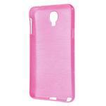 Gelové kartáčované pouzdro na Samsung Galaxy Note 3 Neo - růžové - 3/5