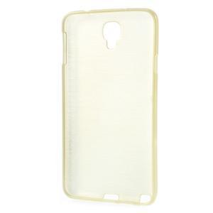 Gelové kartáčované pouzdro na Samsung Galaxy Note 3 Neo - zlaté - 3