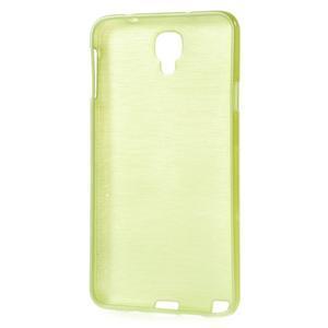 Gelové kartáčované pouzdro na Samsung Galaxy Note 3 Neo - zelené - 3