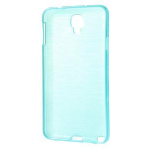 Gelové kartáčované pouzdro na Samsung Galaxy Note 3 Neo - modré - 3