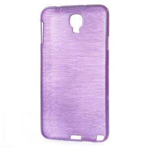 Gelové kartáčované pouzdro na Samsung Galaxy Note 3 Neo - fialové - 3