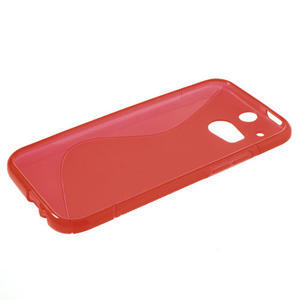 Gelové S-line pouzdro pro HTC one M8- červené - 3