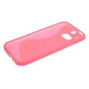Gelové S-line pouzdro pro HTC one M8- růžové - 3