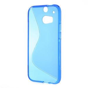 Gelové S-line pouzdro pro HTC one M8- modré - 3