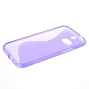 Gelové S-line pouzdro pro HTC one M8- fialové - 3
