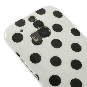 Gelové-PUNTÍKY pouzdro pro HTC one M8- černé - 3