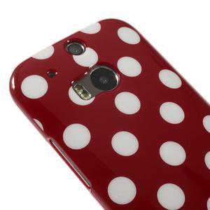 Gelové-PUNTÍKY pouzdro pro HTC one M8- červené - 3