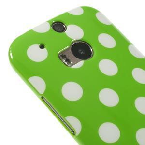 Gelové-PUNTÍKY pouzdro pro HTC one M8- zelené - 3