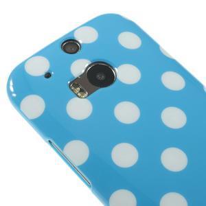 Gelové-PUNTÍKY pouzdro pro HTC one M8- modré - 3