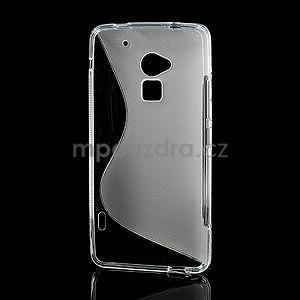 Gelové S-line pouzdro pro HTC one Max-transparentní - 3