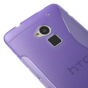 Gelové S-line pouzdro na HTC One Max- fialové - 3