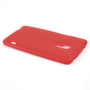 Gelové matné pouzdro pro HTC one Max- červená - 3