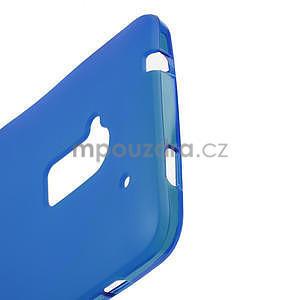 Gelové matné pouzdro pro HTC one Max- modré - 3
