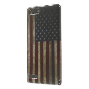 Gelové pouzdro na Huawei Ascend G6 - USA vlajka - 3