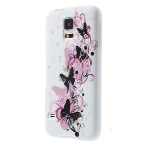 Gelové pouzdro na Samsung Galaxy S5- motýl květina - 3