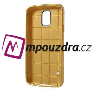 Gelové pouzdro na Samsung Galaxy S5- zlaté - 3