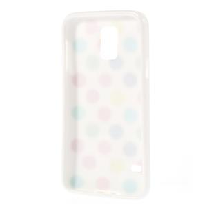 Gelové puntíkaté pouzdro na Samsung Galaxy S5- bílobarevné - 3