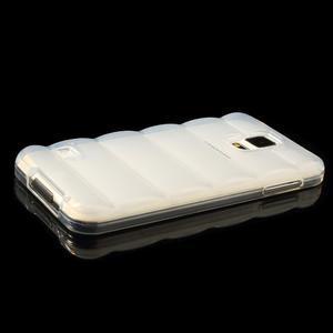 Gelové vesta pouzdro na Samsung Galaxy S5- bílé - 3