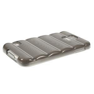Gelové vesta pouzdro na Samsung Galaxy S5- šedé - 3