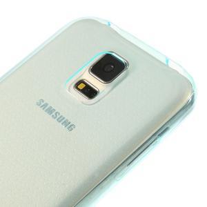 Gelové ultraslim pouzdro na Samsung Galaxy S5- světlemodré - 3