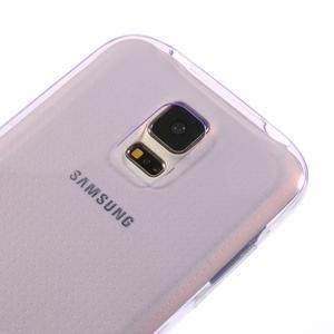 Gelové ultraslim pouzdro na Samsung Galaxy S5- fialové - 3