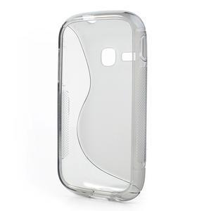 Gelové S-line pouzdro na Samsung Galaxy Young S6310- šedé - 3