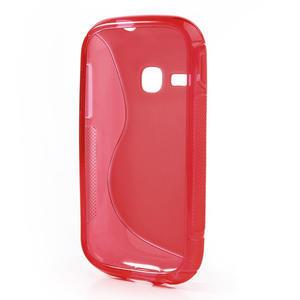 Gelové S-line pouzdro na Samsung Galaxy Young S6310- červené - 3