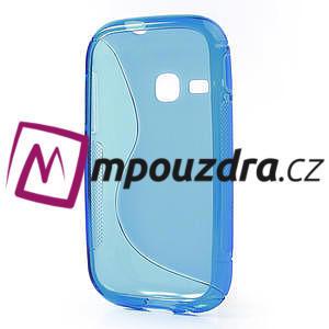 Gelové S-line pouzdro na Samsung Galaxy Young S6310- modré - 3