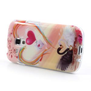 Gelové pouzdro na Samsung Galaxy Trend, Duos- labutí srdce - 3