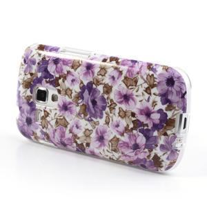 Gelové pouzdro na Samsung Galaxy Trend, Duos- fialové květy - 3