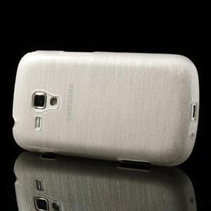 Kartáčované pouzdro na Samsung Galaxy Trend, Duos- bílé - 3