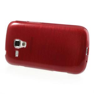 Kartáčované pouzdro na Samsung Galaxy Trend, Duos- červené - 3