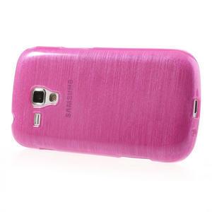 Kartáčované pouzdro na Samsung Galaxy Trend, Duos- růžové - 3