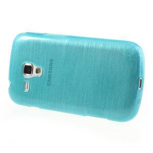 Kartáčované pouzdro na Samsung Galaxy Trend, Duos- modré - 3