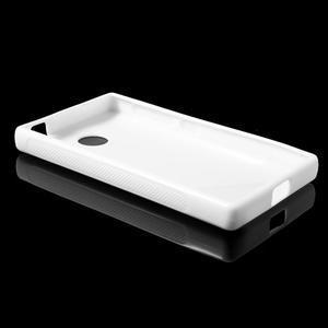 Gelové S-line pouzdro na Nokia X dual- bílé - 3