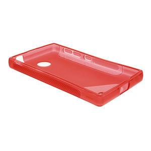 Gelové S-line pouzdro na Nokia X dual- červené - 3