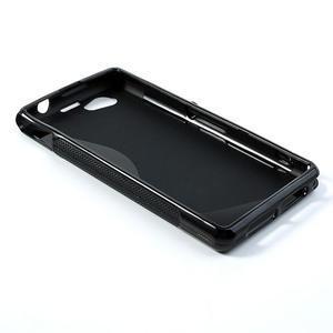 Gelové S-line pouzdro na Sony Xperia Z1 Compact D5503- černé - 3