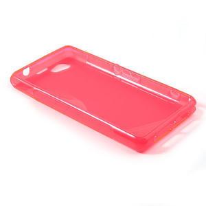 Gelové S-line pouzdro na Sony Xperia Z1 Compact D5503- růžové - 3