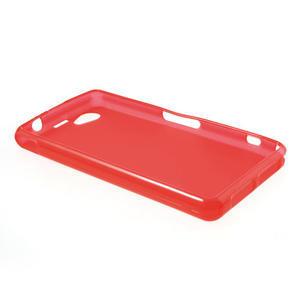 Gelové matné  pouzdro na Sony Xperia Z1 Compact D5503- červené - 3