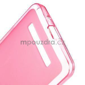 Gelové matné pouzdro na Asus Zenfone 5 - růžové - 3