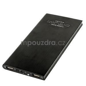 Luxusní kovová externí nabíječka power bank 12 000 mAh - černá - 3
