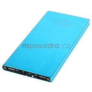 Luxusní kovová externí nabíječka power bank 12 000 mAh - modrá - 3