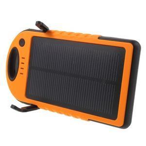 Outdoor GX vysokokapacitní externí solární nabíječka 12 000 mAh - oranžová - 3