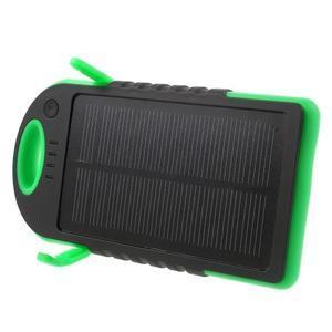 Outdoor GX vysokokapacitní externí solární nabíječka 12 000 mAh - černá/zelená - 3