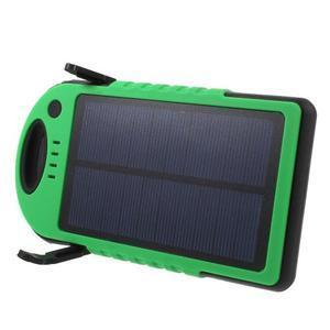 Outdoor GX vysokokapacitní externí solární nabíječka 12 000 mAh - zelená/černá - 3