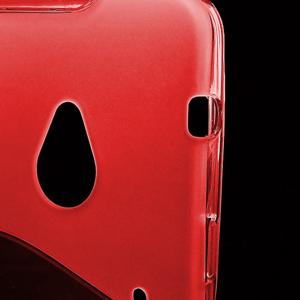 Gelové S-line pouzdro pro HTC one M7- červené - 3